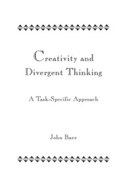 Creativity and Divergent Thinking - 1st Edition book cover