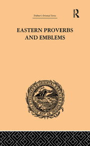 Eastern Proverbs and Emblems - 1st Edition book cover