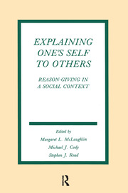 Explaining One's Self To Others - 1st Edition book cover