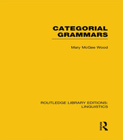 Categorial Grammars - 1st Edition book cover