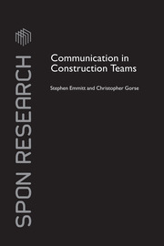 Communication in Construction Teams - 1st Edition book cover