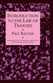 Introduction To The Law Of Treat - 1st Edition book cover