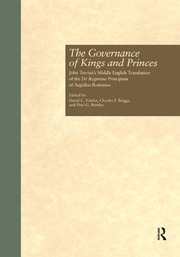 The Governance of Kings and Princes - 1st Edition book cover