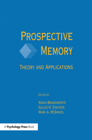 Prospective Memory - 1st Edition book cover