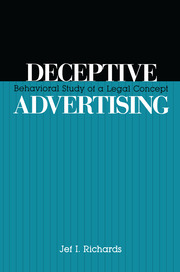 Deceptive Advertising - 1st Edition book cover