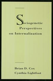 Sociogenetic Perspectives on Internalization - 1st Edition book cover