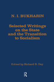 Selected Writings on the State and the Transition to Socialism - 1st Edition book cover
