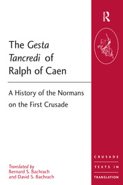 The Gesta Tancredi of Ralph of Caen - 1st Edition book cover