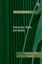 Community, Home, and Identity - 1st Edition book cover