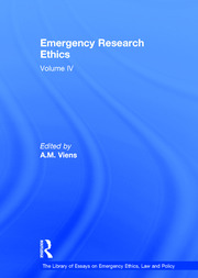 Emergency Research Ethics - 1st Edition book cover