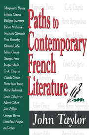 Paths to Contemporary French Literature - 1st Edition book cover