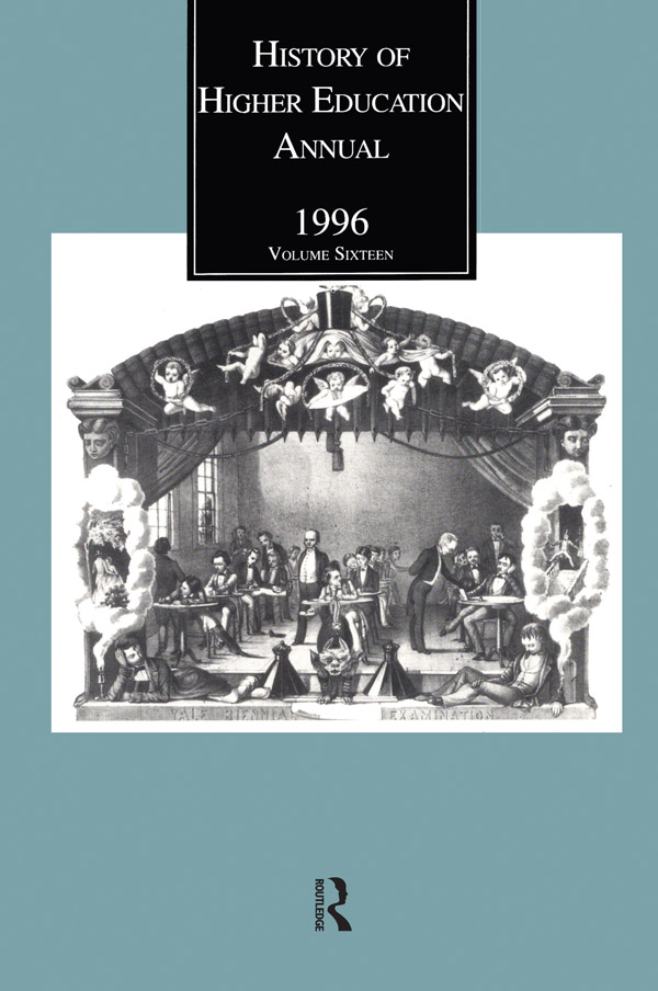 History of Higher Education Annual: 1996 - 1st Edition book cover