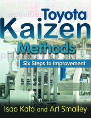 Toyota Kaizen Methods - 1st Edition book cover