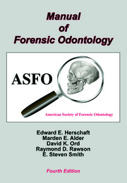 Manual Of Forensic Odontology 4th Edition Edward E Herschaft R