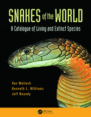 Snakes of the World: A Catalogue of Living and Extinct Species