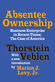 Absentee Ownership - 1st Edition book cover