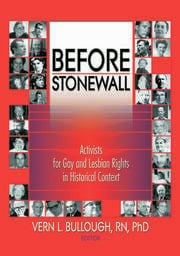 Before Stonewall - 1st Edition book cover