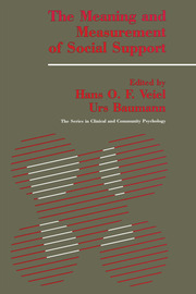 The Meaning And Measurement Of Support - 1st Edition book cover
