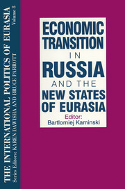The International Politics of Eurasia: v. 8: Economic Transition in Russia and the New States of Eurasia - 1st Edition book cover