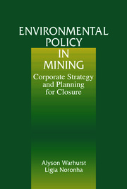 Environmental Policy in Mining: Corporate Strategy and Planning
