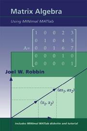 Matrix Algebra Using MINimal MATlab - 1st Edition book cover