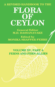 A Revised Handbook to the Flora of Ceylon, Vol. XV, Part A - 1st Edition book cover