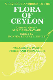 A Revised Handbook to the Flora of Ceylon, Vol. XV, Part B - 1st Edition book cover
