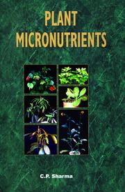 Plant Micronutrients - 1st Edition book cover