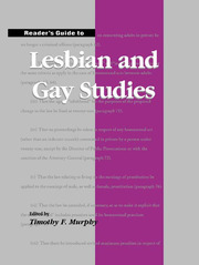 Reader's Guide to Lesbian and Gay Studies - 1st Edition book cover