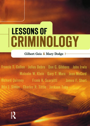 Lessons of Criminology - 1st Edition book cover