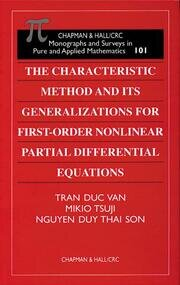 The Characteristic Method and Its Generalizations for First-Order Nonlinear Partial Differential Equations - 1st Edition book cover