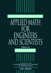 Dictionary of Applied Math for Engineers and Scientists - 1st Edition book cover