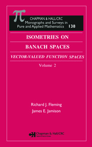 Isometries in Banach Spaces: Vector-valued Function Spaces and Operator Spaces, Volume Two