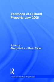 Yearbook of Cultural Property Law 2006 - 1st Edition book cover