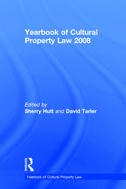 Yearbook of Cultural Property Law 2008 - 1st Edition book cover