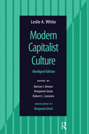 Modern Capitalist Culture, Abridged Edition - 1st Edition book cover