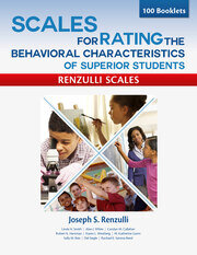 Scales for Rating the Behavioral Characteristics of Superior Students--Print Version - 3rd Edition book cover