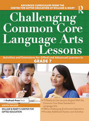 Challenging Common Core Language Arts Lessons - 1st Edition book cover