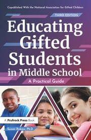 Educating Gifted Students in Middle School - 3rd Edition book cover