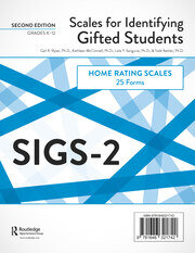 Scales for Identifying Gifted Students (SIGS-2) - 2nd Edition book cover