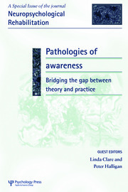 Pathologies of Awareness: Bridging the Gap between Theory and Practice: A Special Issue of Neuropsychological Rehabilitation