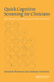 Quick Cognitive Screening for Clinicians: Clock-drawing and Other Brief Tests