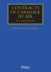 Contracts of Carriage by Air - 2nd Edition book cover