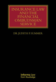 Insurance Law and the Financial Ombudsman Service - 1st Edition book cover