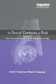 Social Contours of Risk - 1st Edition book cover