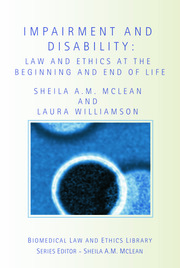Impairment and Disability - 1st Edition book cover