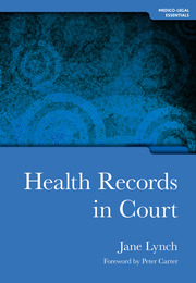 Health Records in Court - 1st Edition book cover
