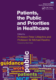 Patients, the Public and Priorities in Healthcare - 1st Edition book cover