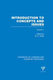 Handbook of Learning and Cognitive Processes (Volume 1) - 1st Edition book cover