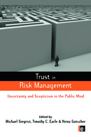 Trust in Risk Management - 1st Edition book cover